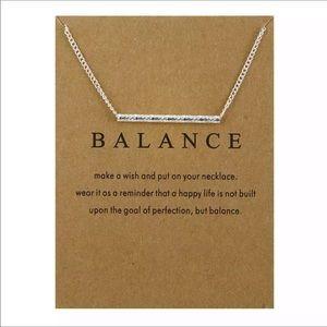 Jewelry - Balance Bar dainty necklace